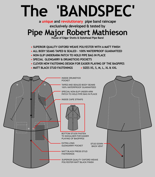 Band Spec Rain Cape Details Photo
