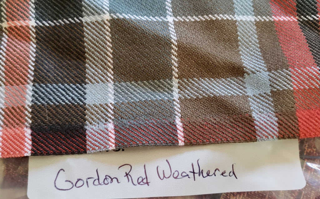 Gordon Red Weathered Tartan Scraps