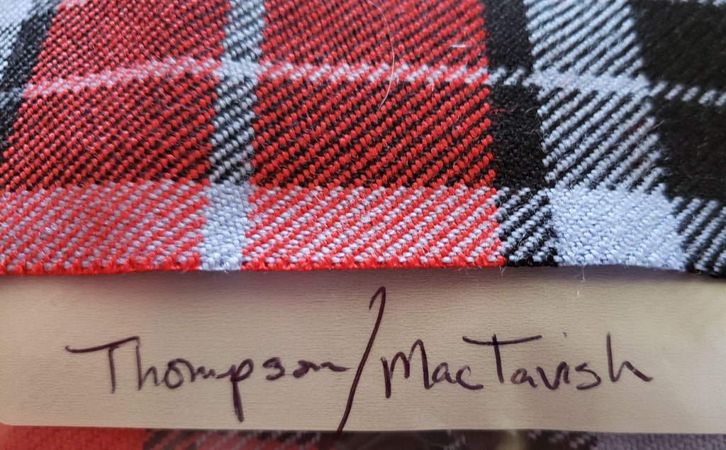 Thompson (Red/MacTavish) Tartan Scraps
