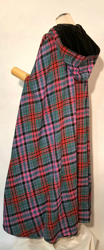 Tartan (Plaid) and Velvet Cape