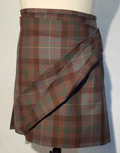 Sweep Front Tartan Skirt