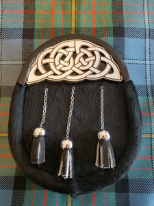 Kid's Semi-Dress Sporran with Leather Knotwork Cantle