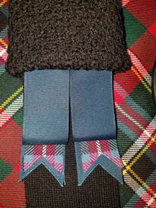 Two Tone Tartan Flashes