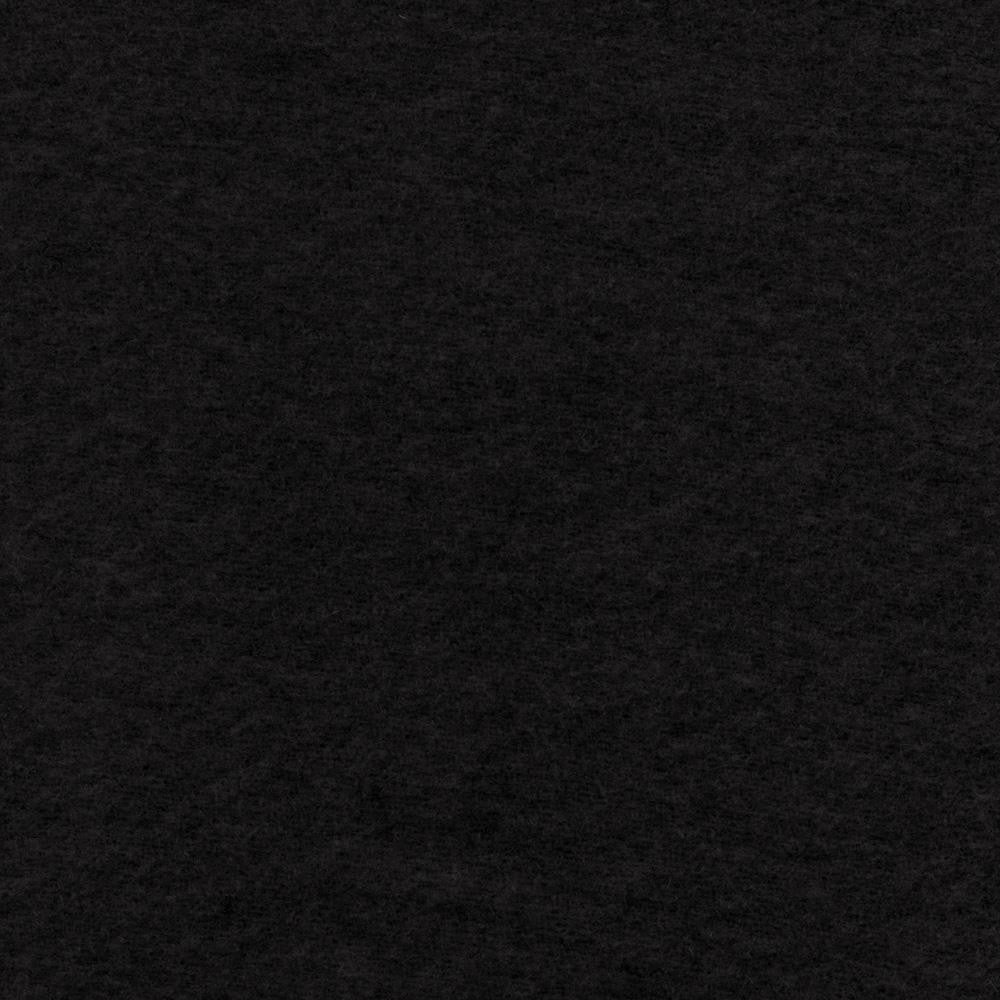 Black Melton Wool