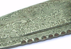 Sgian Dubh, Genuine Antler Damascus Half Crown
