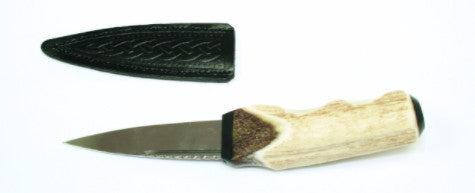 Sgian Dubh, Genuine Antler with Buffalo Horn Cap