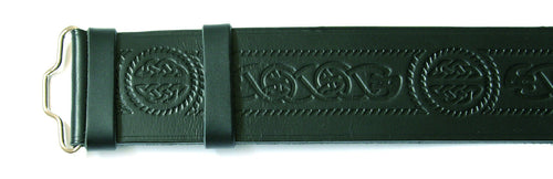 Kilt Belt, Celtic Serpent Embossed