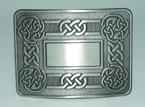 Celtic Swirl Belt Buckle Antique