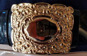 Kilt Belt Buckle, Chrome or Gilt Finish