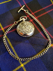 Pocket Watch, Celtic Triskel