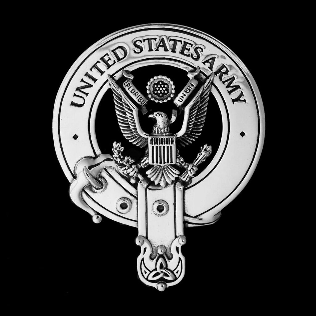 Sterling Silver Cap Badge: United States Army