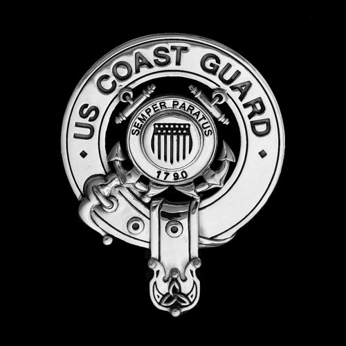 Sterling Silver Cap Badge: US Coast Guard