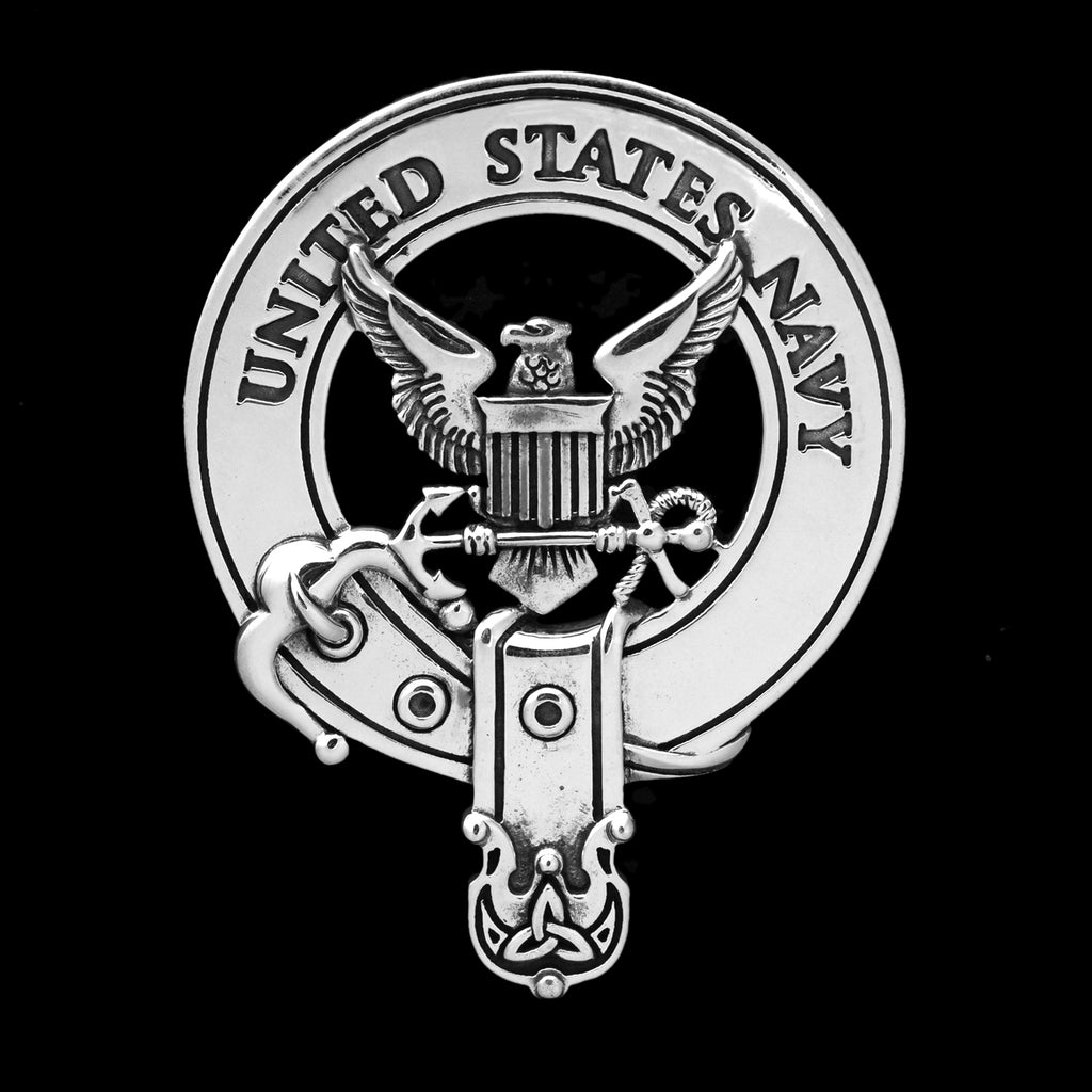 Sterling Silver Cap Badge: United States Navy