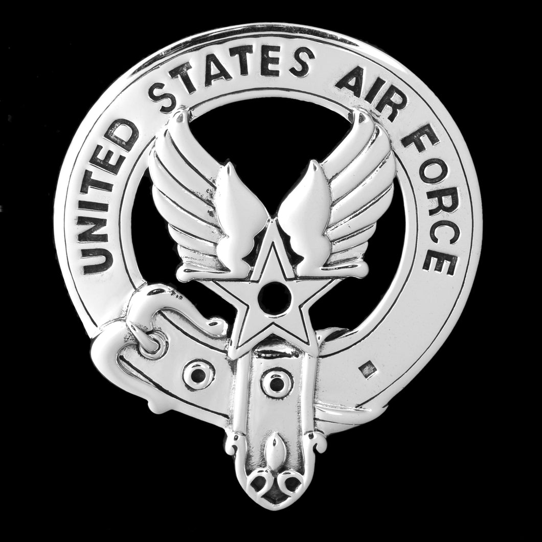 Sterling Silver Cap Badge: United States Air Force