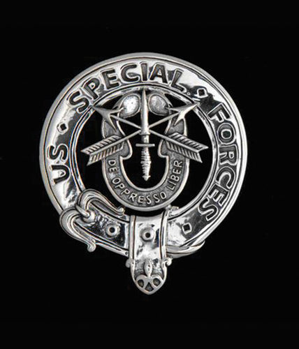 Sterling Silver Cap Badge: United States Army Special Forces