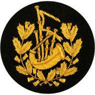 Gold Pipe Major Badge