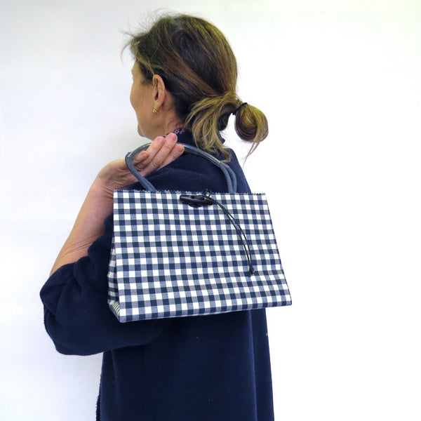 Pattern Wax Cotton - Mini - Navy Check
