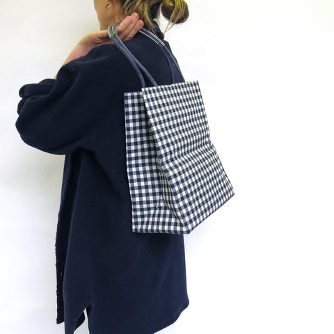 Pattern Wax Cotton  - Midi - Navy Check