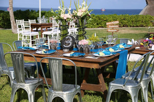 INDUSTRIAL COLLECTION Lo mas exclusivo en montajes para bodas en Cancun y Playa del Carmen - Mejores Banquetes