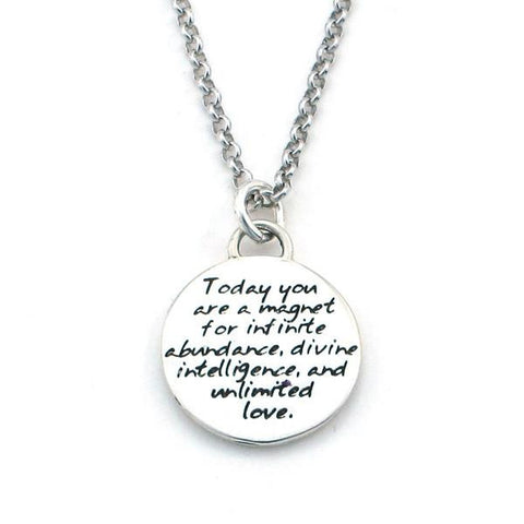 "Kevin N Anna Studios Small ""Abundance"" Pendant with Braille writing"