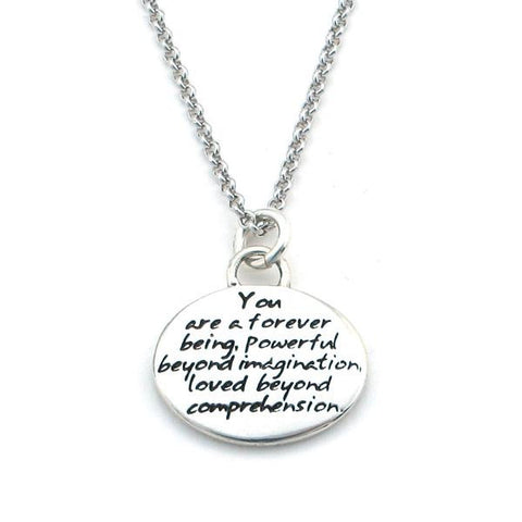 "Kevin N Anna Studios Small ""Eternal"" Pendant with Braille writing"