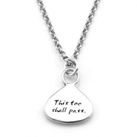 "Kevin N Anna Studios Small ""Time"" Pendant with Braille writing"
