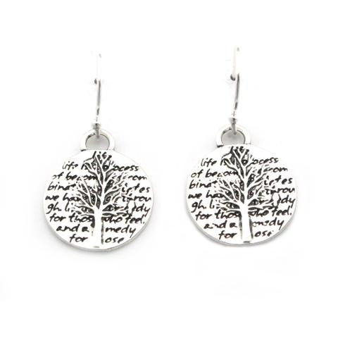 Kevin N Anna Studios Small Tree of Life Pendant Earrings