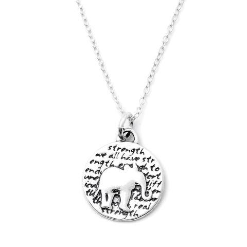 Kevin N Anna Studios Small Elephant Pendant Neckware