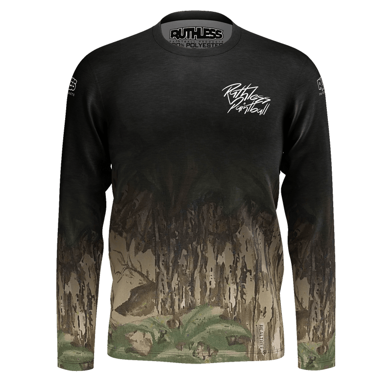 Faded Tree Trunk Camo Long Sleeve