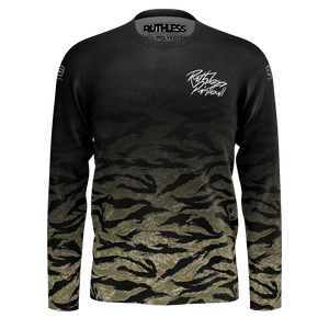 Faded Tiger Stripe  Long Sleeve