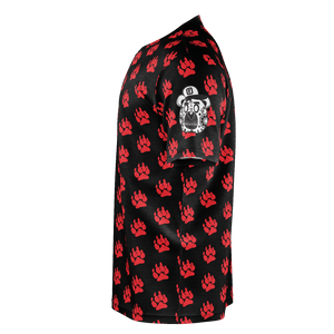Red Paw Allover Black/Red - Ruthless Paintball Products