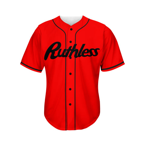 Classic Red Baseball Jersey - Ruthless Paintball Products