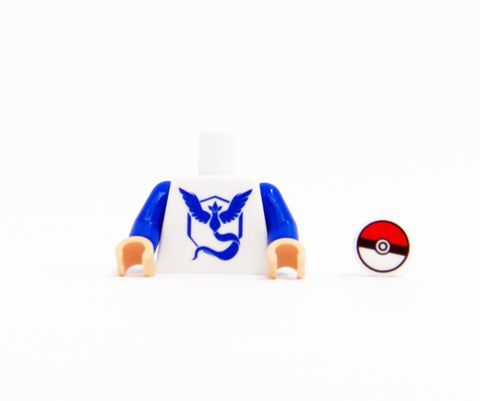 Monster Trainer Team Torso (Blue) - miniBIGS Custom Minifigure Piece