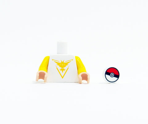 Monster Trainer Team Torso (Yellow) - miniBIGS Custom Minifigure Piece