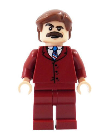 70's News Anchor - miniBIGS Custom Minifigure