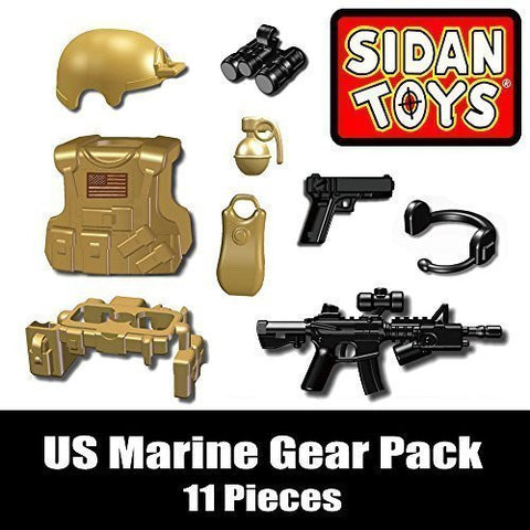 US Marine Gear Pack (11 Pieces) - Custom LEGO Minifigure Pieces