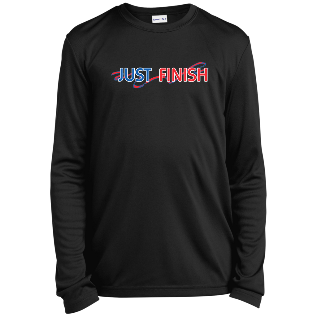 Youth Just Finish Long Sleeve Performance T-Shirt
