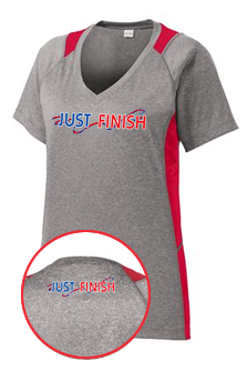 Ladies Short Sleeve Colorblock V-Neck Tech Tee