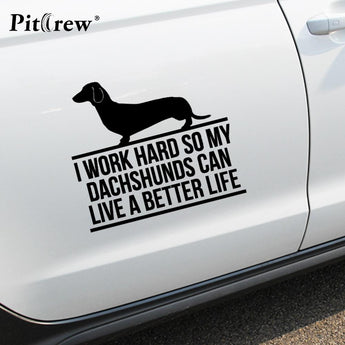 Dachshunds Vinyl Car Decal