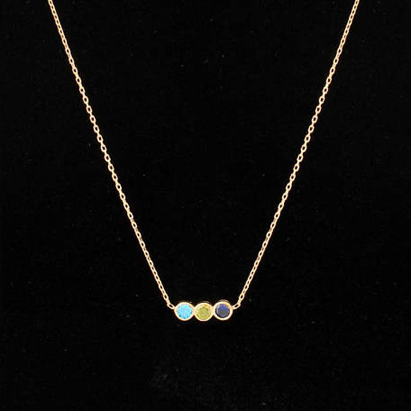 2211cbc126df9 Family Birthstone Necklaces Pendants Gold Dainty Custom Bar Necklace Charm  Women Personalized Jewelry Mother Grandmother Gift