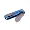 Civilware's Striker Folding Knife in Blue - a minimalist knife, great as an everyday carry.