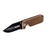 "Civilware's Clipper Folding Knife in Bronze (PVD). Popular 3"" clip point blade makes for a reliable everyday carry."