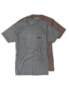 Pocket Tee - BRN/GRY (2 pack)
