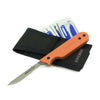 Civilware's Interchangeable Blade Knife in Orange. Ultralight titanium skinning knife with removable and replaceable surgical blades for easy, precision skinning of big and small game animals, alike.