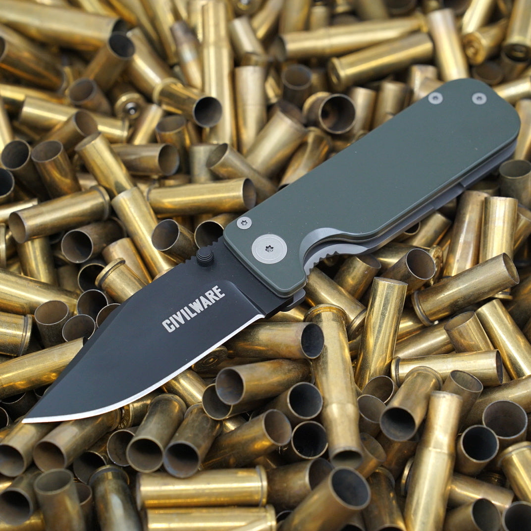 Clipper Folding Knife - OD Green Cerakote