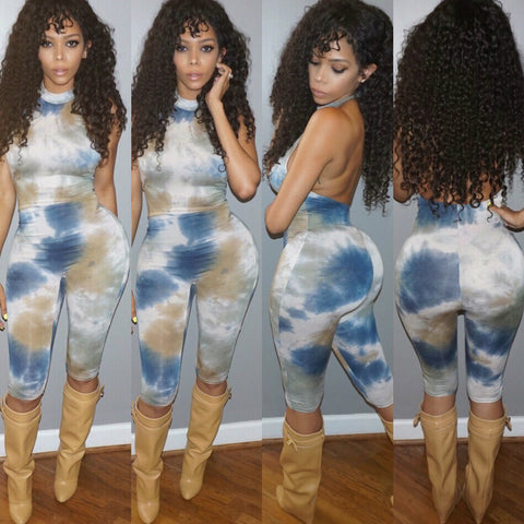 Tie Dye For Capri Body$uit - Expensive Taste Boutique