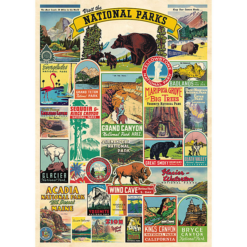 National Parks Wrapping Paper