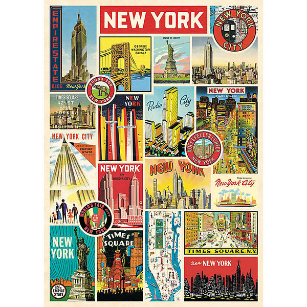 New York Collage Wrapping Paper