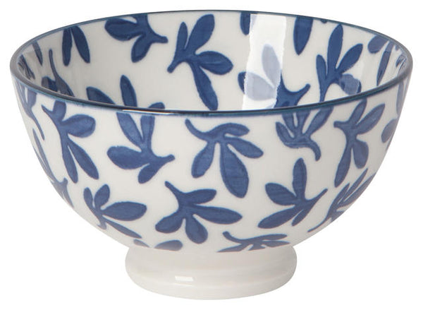 "Blue Leaf 4"" Bowl"