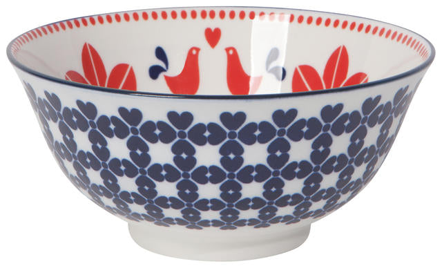 "Navy Red Bird 6"" Bowl"